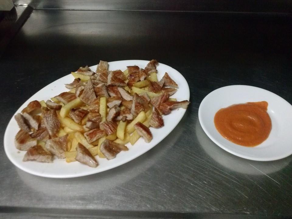 Secreto ibérico con patatas.